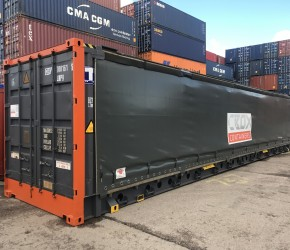 45ft HC Pallet Wide Curtain Side container0