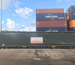 45ft HC Pallet Wide Curtain Side container1