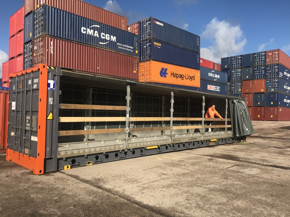 45ft Hc Pallet Wide Curtain Side Container Cbox