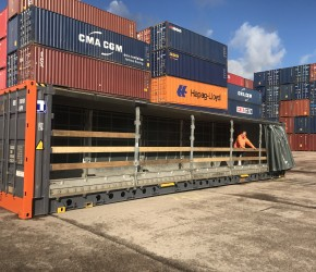 45ft HC Pallet Wide Curtain Side container2