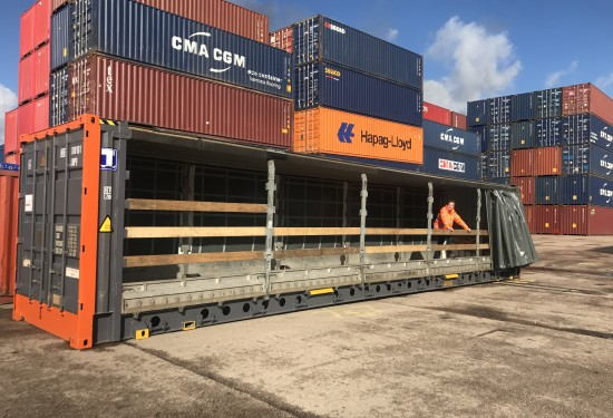 45ft HC Pallet Wide Curtain Side container