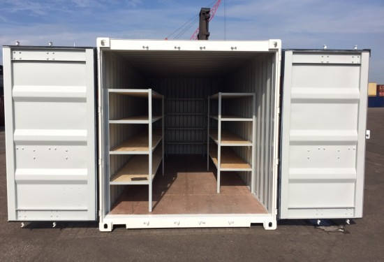 20ft Shelving container