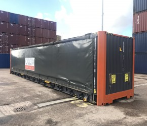 45ft HC Pallet Wide Curtain Side container4